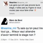 Pas mal la gamine de 3ème en stage au @Le_Figaro qui se fait avoir après avoir balancé sans gêne sur Twitter! http://t.co/H27DHTGweS