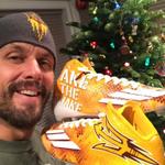 Adidas sent Jake Plummer snakeskin #ASU cleats. Pretty awesome. http://t.co/8onWEYo79d http://t.co/pwRfZSRjbG