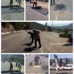 Brigadas de @AcapulcoGob realizan acciones de bacheo en Pie de la Cuesta y Av. Escénica. http://t.co/kaDAH0Vsw8