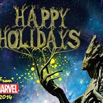 Please enjoy and share the Marvel 2014 holiday card. #happygrootidays