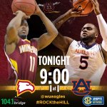 #BigSouthMBB tonight as #Winthrop travels to #Auburn. The 9 p.m. game can be seen on the @SECNetwork . #ROCKtheHILL http://t.co/otThlOtAyi