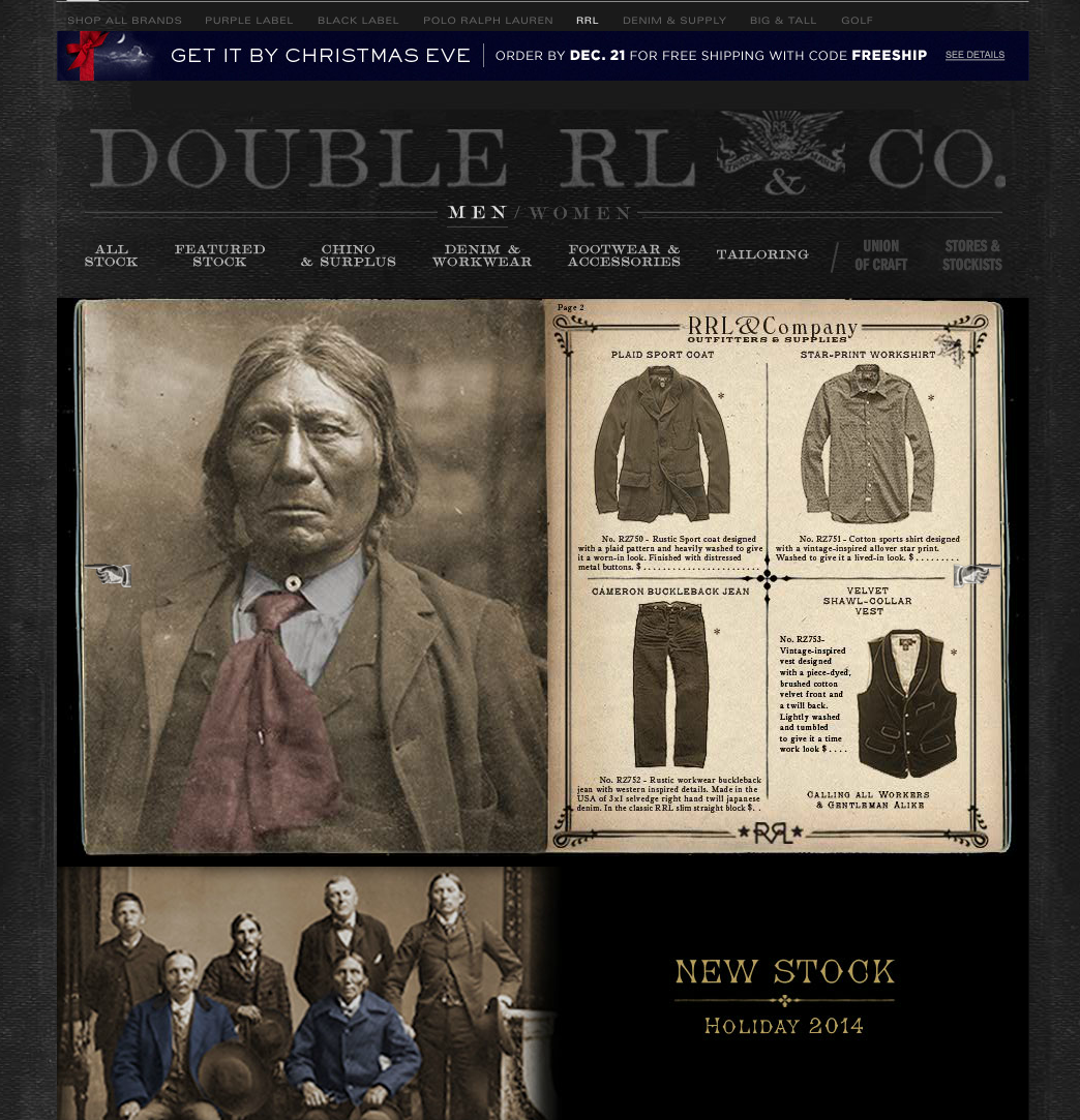 I am floored by the audacity of this campaign. Using Indigenous images and likeness to sell @RalphLauren http://t.co/UOarft2dPy