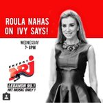 My two Favourite @ivysblog and @RoulaNahas tonight on @NRJLebanon! Expect the unexpected #SunshieDiaryisGoingLive! http://t.co/A7UnC4RuDt