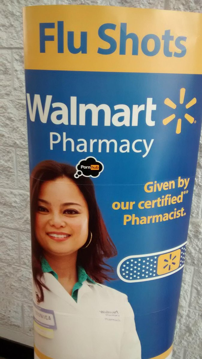 RT @HBizzle252: Even the pharmacist at Wal-Mart has @Pornhub on her mind!! LMAO #PornhubSwag http://t.co/4FH1XpZhpR