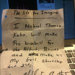 New #Braves reliever @MichaelKohn58 wrote this when he was 10-years-old. http://t.co/NuSFqa1Zq5
