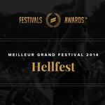 On termine avec la catégorie du Meilleur Grand Festival. Cest le @hellfestopenair qui remporte le trophée 2014 ! http://t.co/KZbCfDldCS