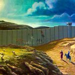 If Mary & Joseph set off to Bethlehem today theyd cross 15 Israeli checkpoints & a 30ft Wall. #FreePalestine http://t.co/cD8oJCCijD