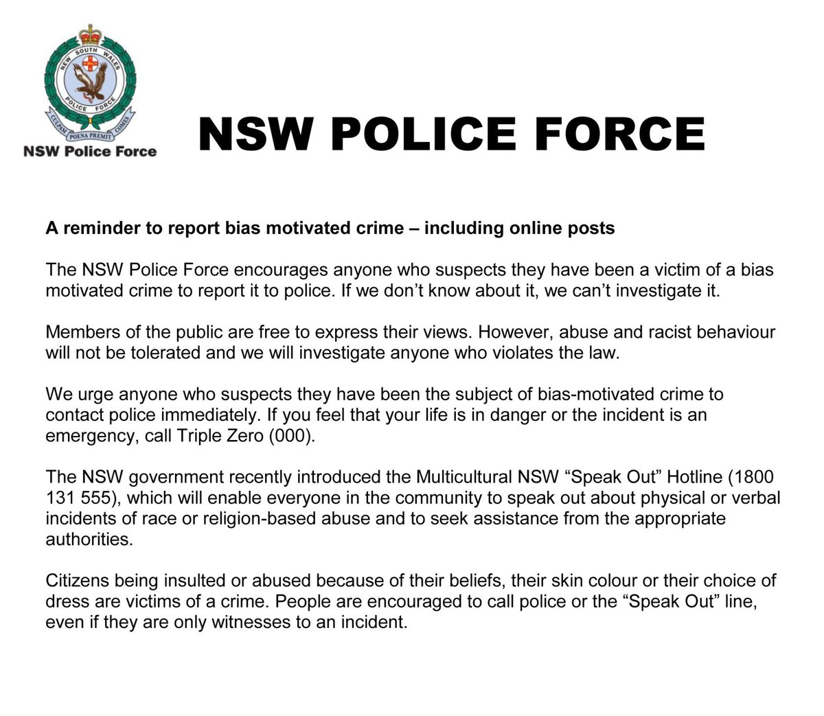 how to get a police report nsw
