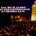 #PakWithIndiaNoToLakhviBail @IndLovesPak Candle light vigil for #PeshawarAttack at #IndiaGate. #IndiaWithPakistan http://t.co/h4RNX8KPMw