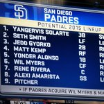 Potential lineup with Myers and Kemp in the mix. #Padres http://t.co/O8fVNLf9T7