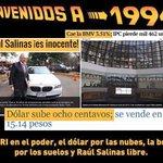 El PRI en el poder, se devalúa el peso, sube el dólar, PRIvatizan todo y Raul Salinas Libre #YaMeCansé7 http://t.co/0iWuhpEDdn
