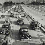 Lake Shore Drive - #Chicago 1944. @loumanfredini @TheVicChicago @MarkPotash @chipublib @CFDMedia @SoldierField @CBOE http://t.co/7k8ZIfkTdo