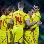 PHOTO: Lazar Markovic celebrates his first ever #LFC goal http://t.co/5lbclEh2zs