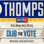 Klay Thompson #NBABallot  If this tweet gets 2,000 RTs by midnight, well give away 2 tickets to tmrws GSW-OKC game! http://t.co/cY3xZdvvU9