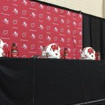 The proverbial stage is set for Paul Chryst and the #Badgers big announcement http://t.co/uZCKVjtRO7