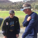 How about @chargers HC Mike McCoy visiting w 2days guest 96-yr-old Cliff Boyd, longest STH in team history #boltup http://t.co/NT49JnTGdM