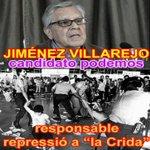 """JIMÉNEZ VILLAREJO (@ahorapodemos) RESPONSABLE REPRESIÓN contra """" la CRIDA"""" (1985) #MarcaEspaña @TostDe @IndepCast http://t.co/iO25acSI9p"""