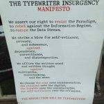 The Typewriter Insurgency Manifesto, #Berkeley http://t.co/uMucoxlW6z