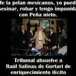En México x protestar vas a cárcel de máxima seguridad pero si robas-asesinas como los Salinas nada pasa! #YaMeCanse8 http://t.co/AVxlYUB0Wb