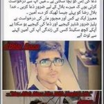 Pray for Bilal Raza An Apeal from Bilals Mother,,, He is in Serious condition ???????????? #PeshawarAttack #CrushTTP http://t.co/obI5vWsETJ
