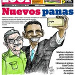 """#Caricatura que elaboré para la portada de @2001OnLine #Cuba #EEUU """"Nuevos Panas"""" http://t.co/JffOAfDL6r"""