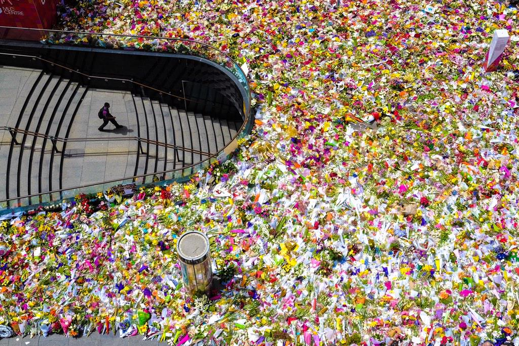 Wow!  @John__Donegan: The floral tributes to #sydneyseige victims continue to grow. http://t.co/IgU4ocHAdu @abcnews