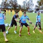 Nuestros refuerzos @PipaBenedetto @darwinJR3 y #CristianPellerano realizan su primer práctica como Azulcremas http://t.co/YvilLtbGEy