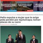 Peña expulsa a mujer que le exige pida perdón por #Ayotzinapa #YaMeCanse8 http://t.co/ryZS19BLiU http://t.co/gtHPaCY404