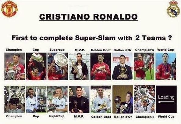 Cristiano Ronaldo a punto de convertirse en el primer jugador de la historia en ganar TODO con 2 equipos distintos. http://t.co/smokFOai3i