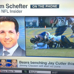 Bears to bench Jay Cutler, start Jimmy Clausen vs Lions on Sunday per sources (my TV) http://t.co/ePst3X2R4l http://t.co/88xUfJMx6F
