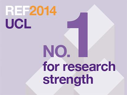 UCL is top-rated UK university for research strength in #REF2014 More: http://t.co/BuatosD2Pw #uclref http://t.co/qmEbXQ0tuX