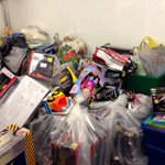 A look all of the toys we collected tonight at our drive-thru drop-off! @CTVBarrieNews http://t.co/WPNaB1X6gd