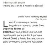 @Rayados hace oficial llegada de Pablo Barrera @TVCDeportes http://t.co/E023SEMw8k
