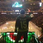 And @glenperkins is getting ready to get this party started at the @mnwild game... http://t.co/vE2NsiZlvL