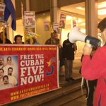 @maxtennant reads poem about the #Cuban5 Héroes @ celebration rally front of #USA consulate #USCUBA #CUBA #Vancouver http://t.co/I6JjEIgQj2