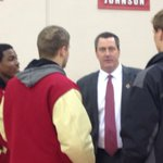 Paul Chryst meeting with his new players. #Badgers http://t.co/XbmX41MREs