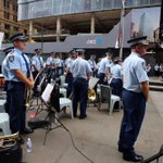 NSW Police Band performed at #MartinPlace today to help provide comfort to ppl gathered at memorial. #illridewithyou http://t.co/ov7wYi5rCs