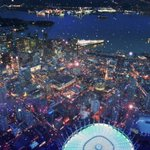 Flying in the rain tonight above #Vancouver #YVR @bcplace & @CanadaPlace in @GlobalBC 1. #wetcoast #raincouver http://t.co/gcQ6W9nloH