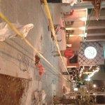 Banqueta recièn reparada en Costera frente a LaCasa de los Abuelos está siendo destruida,lo autorizó el Ayuntamiento? http://t.co/t30vNHbif4