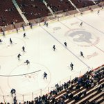 Warm-up is a go @RogersArena. You in the house? If not, where you watching from? #Canucks http://t.co/ogtJaSL2Kf