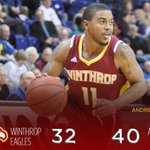 Andre Smith had 8 points in the 1st half. #Eagles trail 40-32 at halftime on the Plains. #RockTheHill http://t.co/pPVNwyscXJ