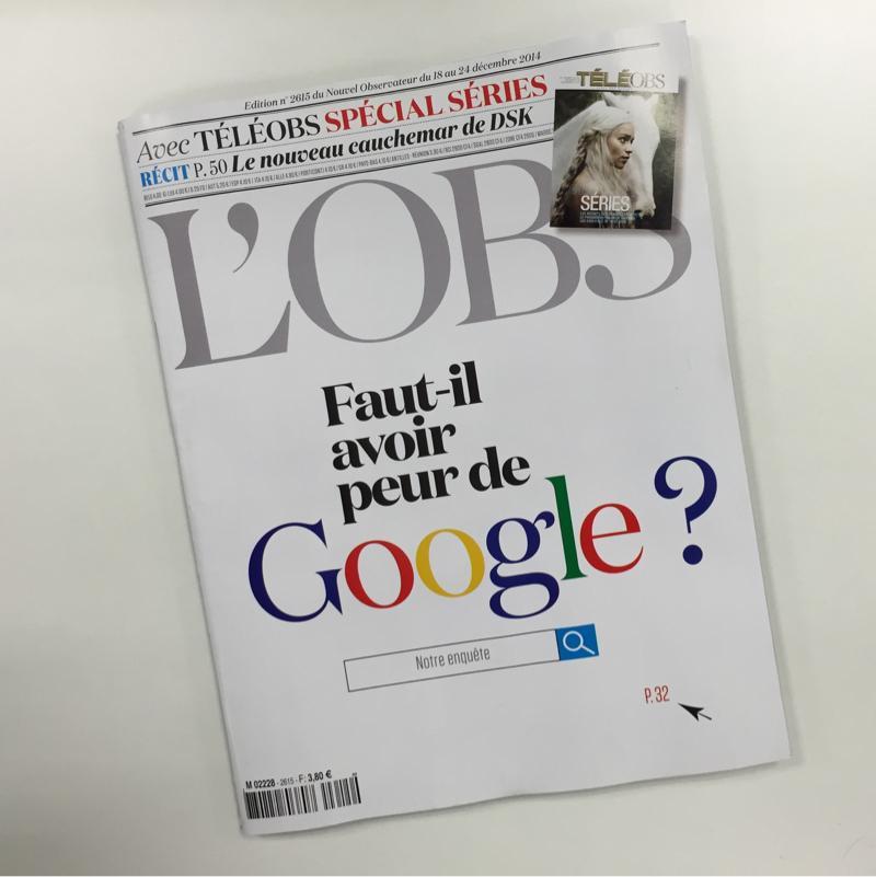 #Google, Larry Page, l'Europe et la confidentialité... Dossier intéressant dans L'OBS de ce jeudi. http://t.co/NjBYqUZzg8