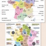 Différences entre la nouvelle carte des régions et celle de la #presse régionale #PQR (Cartes @lesoir / @agenceIDE) http://t.co/ScAR4fCBnv