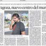 Dicen @xaviayen en @LaVanguardia que hay una Zaragoza Conection y que yo formo parte de ella. @LitRandomHouse http://t.co/pmAG9kp0Cy