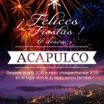 #Acapulco les desea felices fiestas! ven con tu familia a disfrutar del sol arena y mar. http://t.co/oeQ27VxOrV