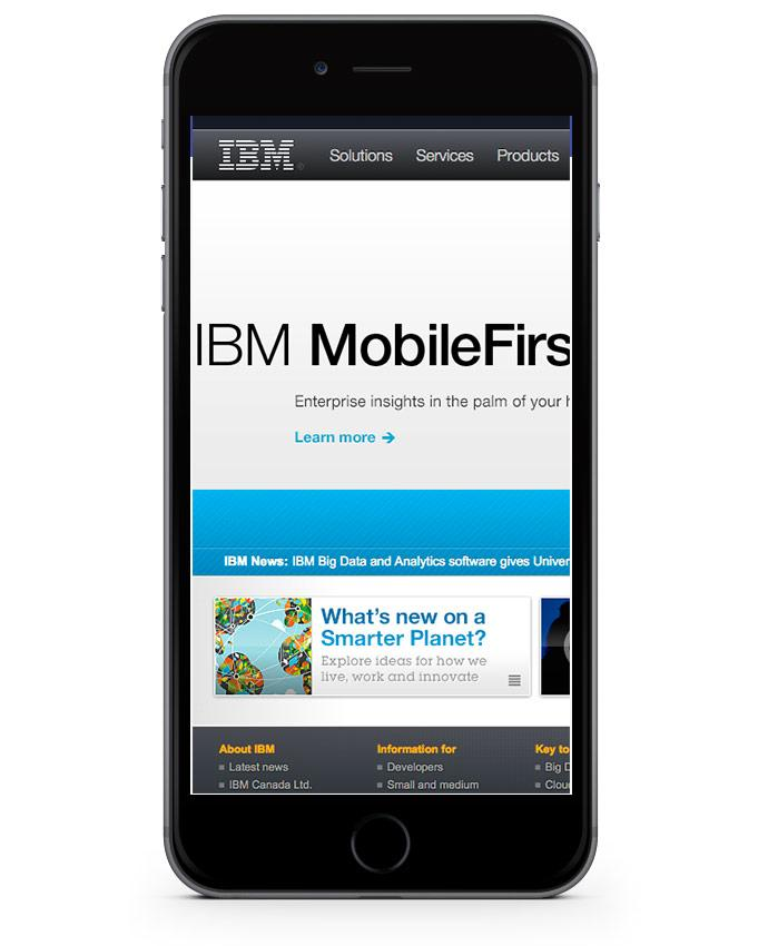 "IBM Mobile ""Firs"" http://t.co/QQTh03QeOY"