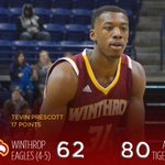 Tevin Prescott scores 17 points in loss to Auburn. Road trip continues at SE Louisiana on Friday. #ROCKtheHILL http://t.co/ZLQbPjjOAf