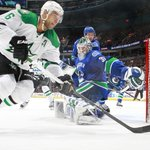 Sceviour has the games only goal, #Canucks trail the Stars 1-0 through 40 minutes. Shots are 22-15 Dallas. http://t.co/6cE6VJ7uyQ
