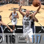 After three OTs, Spurs come up just short. Final: 117-116.  #SASvsMEM http://t.co/RbK5xyBfv6
