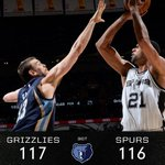 #Grizzlies win after third overtime, 117-116. Z-bo w/ 21 points and 21 boards. #NBABallot #GrizzAllStar http://t.co/JfeCVGx7aW